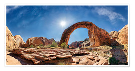 Premium poster Rainbow Bridge, Lake Powell, USA