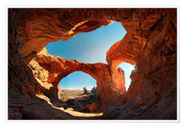 Poster Double Arch Sunset, Arches National Park, Moab, USA
