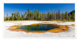 Premium poster Panorama Emerald Pool, Yellowstone National Park