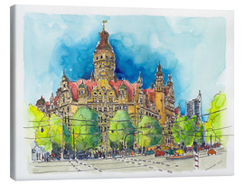 Canvas print  Leipzig New Town Hall - Hartmut Buse