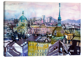Canvas print  Vienna, view to the Karls church - Johann Pickl