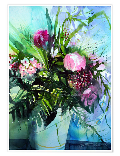 Premium poster Bouquet with peony