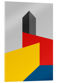 Acrylic print  BAUHAUS TOWER - THE USUAL DESIGNERS