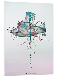 Foam board print  Water drops - mess - Stephan Geist