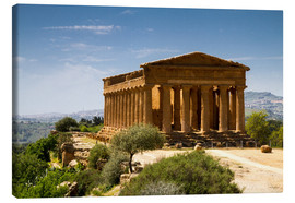 Canvas print  Temple of Concordia, Agrigento, Sicily - Circumnavigation