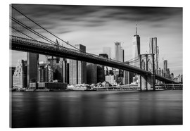 Acrylic print  New York City - Brooklyn Bridge and Skyline - Dennis Fischer