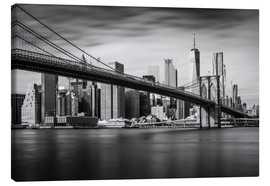 Canvas  New York City - Brooklyn Bridge and Skyline - Dennis Fischer
