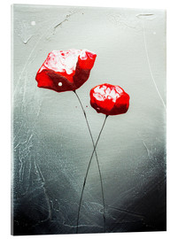 Acrylic glass  flowering roses - Yannick Leniger