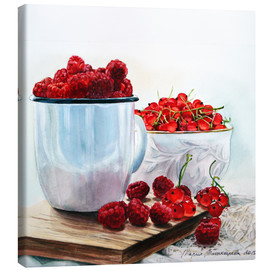 Canvas print  Red berries watercolor painting - Maria Mishkareva