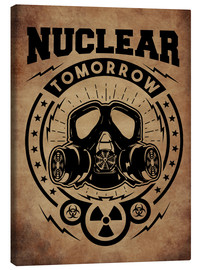 Canvas print  nuclear tomorrow vintage - Durro Art