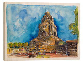 Wood print  Leipzig Memorial to the Battle of Nations - Hartmut Buse