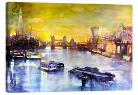 Canvas print  London at sunset from the Angel - Johann Pickl