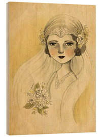 Wood print  The Bride - Amalia K.