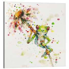 Aluminium print  Hello there, bright eyes (Green tree frog) - Sillier Than Sally