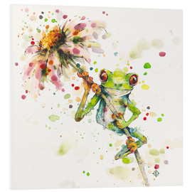 Foam board print  Hello there, bright eyes (Green tree frog) - Sillier Than Sally