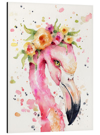 Aluminium print  Little flamingo - Sillier Than Sally