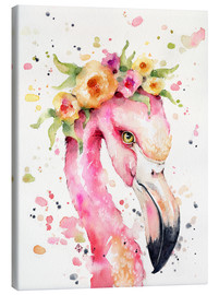 Canvas print  Little flamingo - Sillier Than Sally