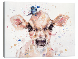 Canvas print  Little calf - Sillier Than Sally