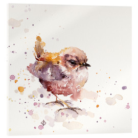 Acrylic print  Fluffy Le Wren (cute bird) - Sillier Than Sally