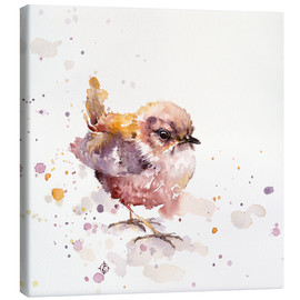 Canvas  Fluffy Le Wren (cute bird) - Sillier Than Sally