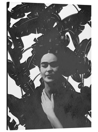 Alu-Dibond  Frida black and white - Mandy Reinmuth