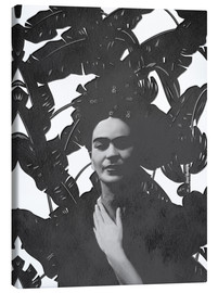 Canvas print  Frida black and white - Mandy Reinmuth