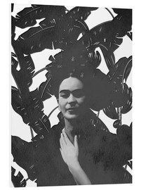 Foam board print  Frida black and white - Mandy Reinmuth