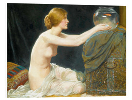 Foam board print  The fish bowl - Albert Henry Collings