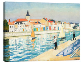 Canvas print  Fisherman at the Ligne - Albert Marquet