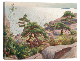 Canvas  Landscape with pine trees - Väinö Blomstedt