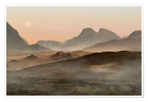 Premium poster Isle of Skye morning panorama