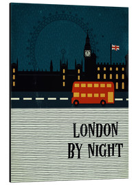 Aluminium print  London by Night - Sybille Sterk