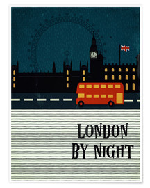 Premium poster  London by Night - Sybille Sterk