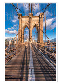 Premium poster Brooklyn Bridge New York