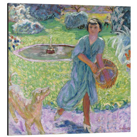 Aluminium print  Girl Playing with a Dog - Pierre Bonnard