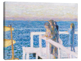 Canvas print  The dock in Cannes - Pierre Bonnard