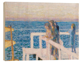 Wood print  The dock in Cannes - Pierre Bonnard