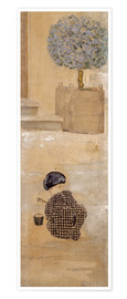 Premium poster  Boy with sandcastle or child with bucket - Pierre Bonnard