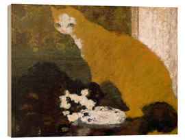Wood print  The cats - Pierre Bonnard