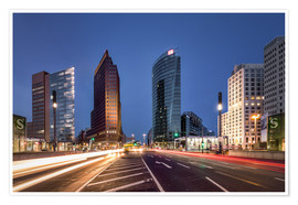 Premium poster Potsdamer Platz Berlin in the evening