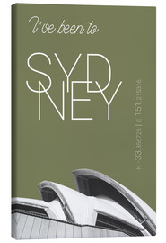 Canvas print  Popart Sydney Opera I have been to Color: Calliste Green - campus graphics