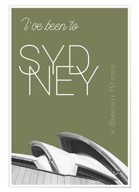 Premium poster Popart Sydney Opera I have been to Color: Calliste Green