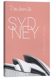 Canvas  Popart Sydney Opera I have been to color: blooming dahlia - campus graphics