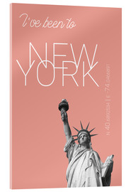Acrylic print  Popart New York Statue of Liberty I have been to Color: blooming dahlia - campus graphics