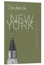 Foam board print  Popart New York Chrysler Building I have been to Color: calliste green - campus graphics