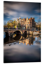 Acrylic glass  Amsterdam during morning light - Dennis Fischer