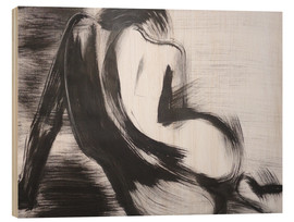 Wood print  Curves 27 - Female Nude - Carmen Tyrrell