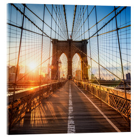 Acrylic glass  Brooklyn Bridge in New York City - Jan Christopher Becke