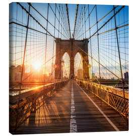 Canvas print  Brooklyn Bridge in New York City - Jan Christopher Becke