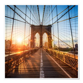 Premium poster  Brooklyn Bridge in New York City - Jan Christopher Becke